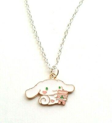 Cute Cinnamoroll Puppy Necklace 16  Chain In Gift Bag Kawaii Hello Kitty Sanrio • 3.99£