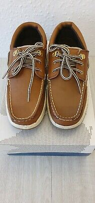 Mens Deck Shoes Sizes 7.5  Uk Brown New Real Leather Yachtsman..sydney Walnut • 20£