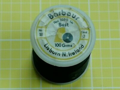 Barbour's Pure Flax 100% Linen Thread 100g No 18 Cord 3 ~ 18/3 ~VGC • 6£