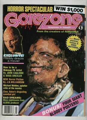 $21.54 • Buy Gorezone Mag Texas Chainsaw Massacre Nightmare Elm Street May 1988 110320nonr