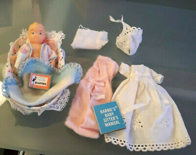 $ CDN64.86 • Buy Vintage Barbie Doll Htf Barbie Baby Sits #0953 W Christening Gown & Cap Lot
