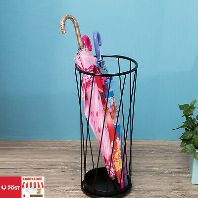 AU35.99 • Buy Fashion Steel Umbrella Stand Umbrella Walking Cane Stick Holder Storage In BLACK