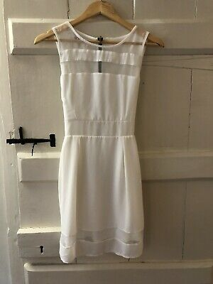 Wal G White Sleeveless Dress With Tie Back And Mesh Detailing. Worn Once. Size M • 4£