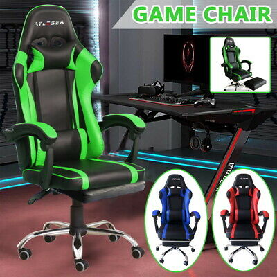 AU123 • Buy Executive Office Computer Gaming Chair Racer Recliner Chairs PU Leather Seat AUS