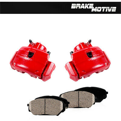 $199.82 • Buy For Escape Tribute Mariner Front Red Coated Brake Calipers & Ceramic Pads