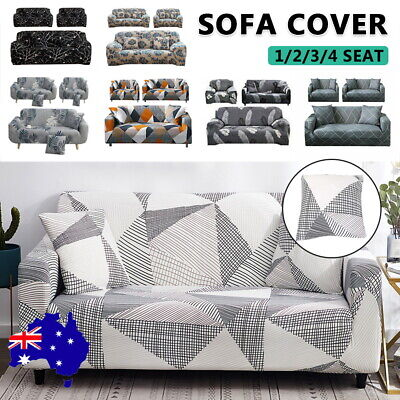 AU22.29 • Buy 1 2 3 4Seater Stretch Sofa Cover Couch Lounge Recliner Chair Slipcover Protector