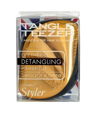 Tangle Teezer Compact Styler Bronze Chrome Detangling Hairbrush Stocking Filler • 5.49£