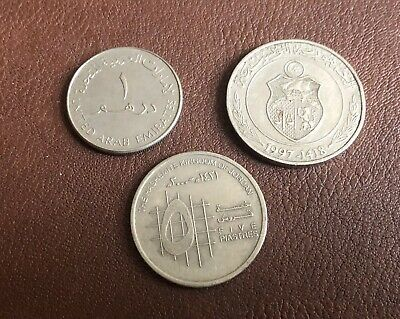 Collection Of Arabic Coins - Tunisia, UAE And Jordan • 1£