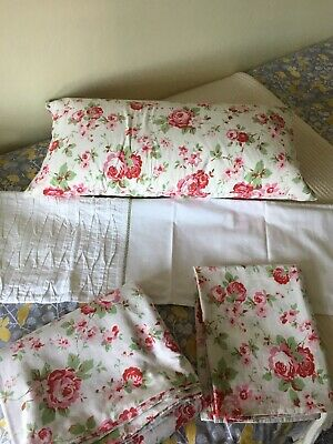 Cath Kidston/Ikea Rosali Single Quilt Cover Set And Feather Cushion • 10£