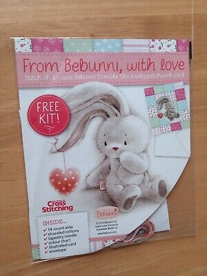 Bebunni With Love Cross Stitch Kit Patchwork Effect Card 14ct  • 2.95£