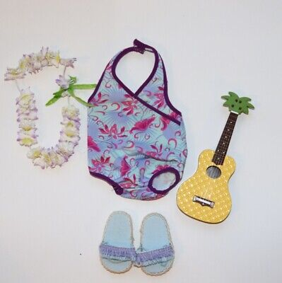 American Doll  Hawaiian Swimsuit Costume/outfit With Guitar • 5£