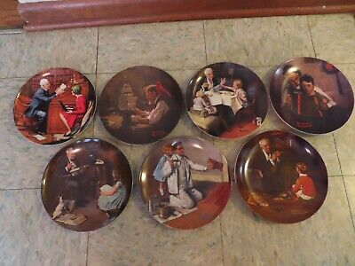 $ CDN38.91 • Buy 7 Norman Rockwell Collector Plates By Knowles