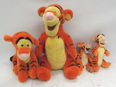 DISNEY Winnie The Pooh Collection Of 4 Various Size Tigger Plush Soft Toys - BC1 • 9.99£