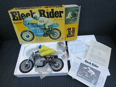 Vintage Kyosho Graupner Eleck Rider 1/6th Scale RC Racing Motorcycle 1970's Nos. • 33£