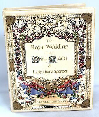 The Royal Wedding 1981 CHARLES & DIANA Stamp Album By STANLEY GIBBONS - W24 • 6.50£