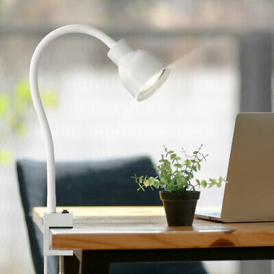 Clamp Writing Night Table Lamp Bed Reading Lamp Spotlight Adjustable White • 27.78£