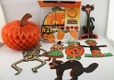 $ CDN97.32 • Buy Lot Vintage Die Cut Cardboard Halloween Decoration Last Century New & Pre Owned