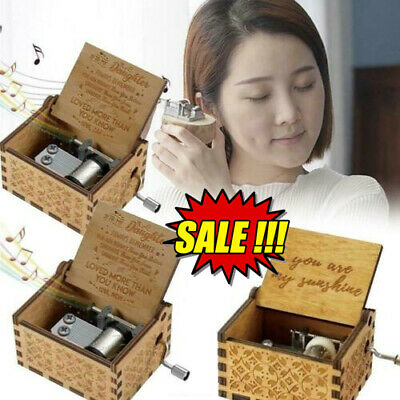 £5.28 • Buy You Are My Sunshine-Wooden Music Box To Daughter/Mum/DAD/Son/Sunshine/Wife Gift