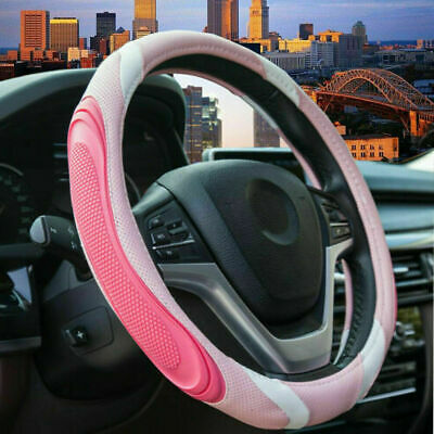 $22.69 • Buy Car Accessories Pink Steering Wheel Cover For Women Non-Slip Breathable Fit 15in