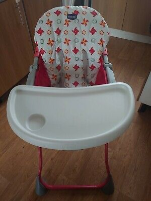 Chicco Highchair  Pocket Meal  Easy To Fold With Removable Tray • 9.99£