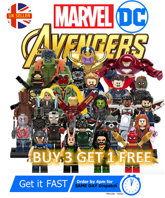 Marvel Avengers Custom Lego DC Superhero Mini Figures Minifigure Star Wars  • 2.95£
