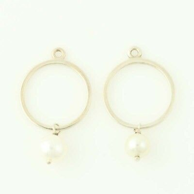 New Authentic Pandora Earrings Charms Moon Drops 290613P Pearls Sterling Silver • 53.76£