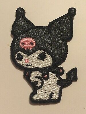 Kuromi Small Iron On Patch Embroidered DIY For Clothing Bags 4cm Cute! • 2.25£