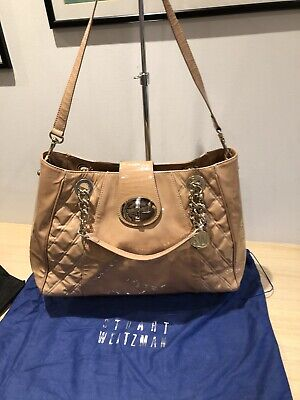 Stuart Weitzman For Russell & Bromley Nude Patent Leather Large Tote Bag • 50£