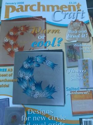 Parchment Craft Magazine January 2008 Cards, Bag, Floral Designs A3 Parchment • 2.50£