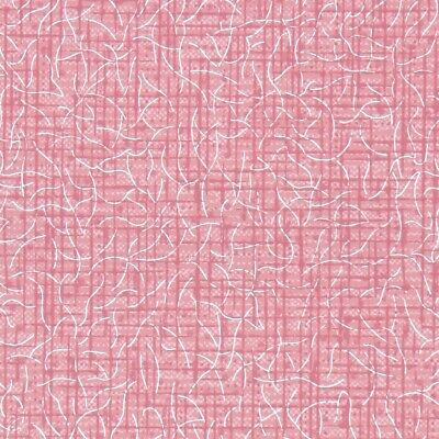 £32.60 • Buy 1950s Fine Graphics Vintage Wallpaper Pink With Silver Accents