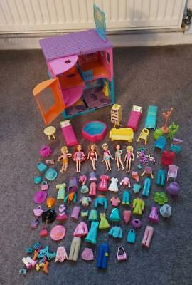 Polly Pocket Bundle, Dolls, Clothes, Accessories, Hotel Playset • 9.99£