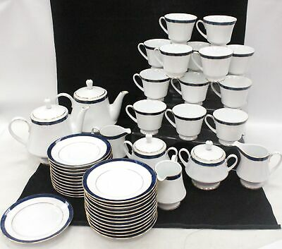 40+ Pcs LEGENDARY By NORITAKE ANA Blue & Whine CHINA Tea Set - E12 • 49.99£