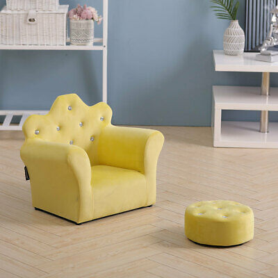 £45.95 • Buy Velvet Kids Sofa Armchair With Free Stool Game Reading Play Children Chair Seat