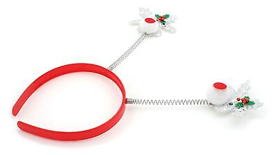 £3.99 • Buy Zest Sparkly Rudolph Christmas Deely Bopper Alice Band Hair Accessories Silver
