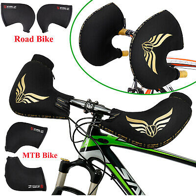 Motorcycle Handlebar Muffs Gloves Outdoor Winter Warm Scooter Road Bike Cycling • 16.19£