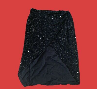 Ladies Navy Blue Sequinned Dressy Style Skirt Size 26 ASOS BNWT • 10£