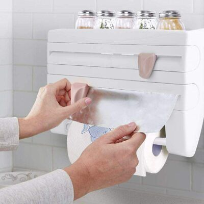 £12.79 • Buy Cling Film Rack And Kitchen Foil Dispenser Paper Towel Roll Holder Wall Mounted