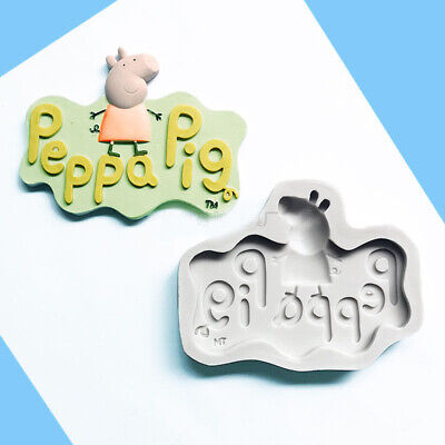Silicone Mould Pig Sugarcraft Cupcake Topper Decorating Fondant Chocolate Mold • 3.59£