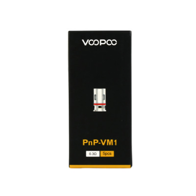 VooPoo VINCI PnP Single Mesh VM1 0.3ohm Coils 32–40W Pack Of 5x Replacement Coil • 10.42£