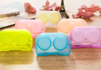 £2.38 • Buy Quality Plastic Contact Lens Case Storage Soaking Travel Eye Care L/R Marked