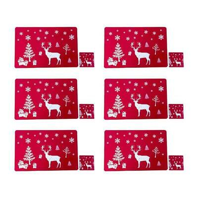 AU16.02 • Buy Christmas Red Dining Table Mats Placemats Washable For Home Festive Gifts 12pcs