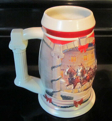 $ CDN12.95 • Buy 2001 Anheuser-Busch Budweiser Holiday Beer Stein  Holiday At The Capitol