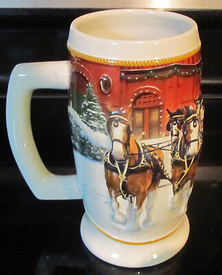$ CDN12.95 • Buy 2006 Anheuser-Busch Budweiser Holiday Beer Stein  Sunset At The Stables