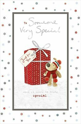 £4.49 • Buy Boofle Someone Very Special Glitter Christmas Greeting Card Cute Xmas Cards