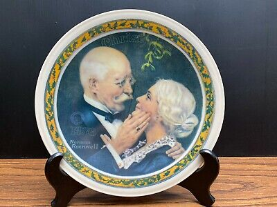 $ CDN16.05 • Buy Vintage Norman Rockwell Golden Christmas Collector's Plate 1976