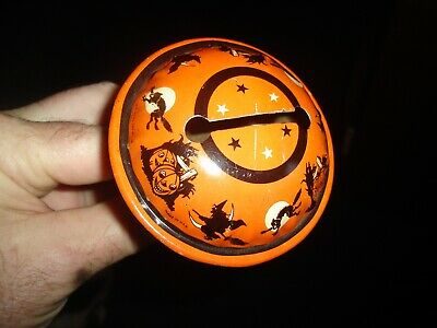 $ CDN57.09 • Buy Vintage USA Tin Lithograph Halloween Noisemaker US Metal Toy