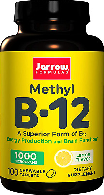 Jarrow Formulas Methylcobalamin Methyl B12, Supports Brain Cells And Nerve 1000 • 5.29£