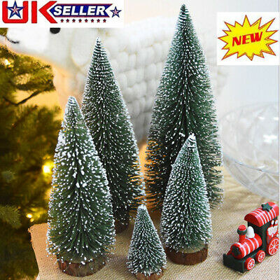 10/15/20cm Artificial Christmas Tree Small Mini Table Top Xmas Green Pine Decor • 5.75£