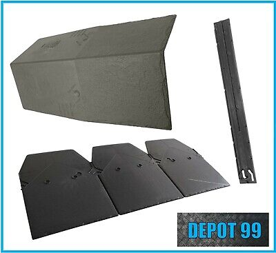 Grey Slate Speedytile Plastic 3 In 1 Roof Tiles / Conservatory Garage Shed Porch • 14.10£