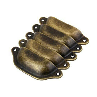 AU13.29 • Buy Antique Brass Cupboard Cabinet Drawer Knob Furniture Shell Handle Reliable Hot